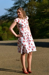 emily and fin strawberry dress
