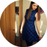 The Perfect Blue Tartan Dress