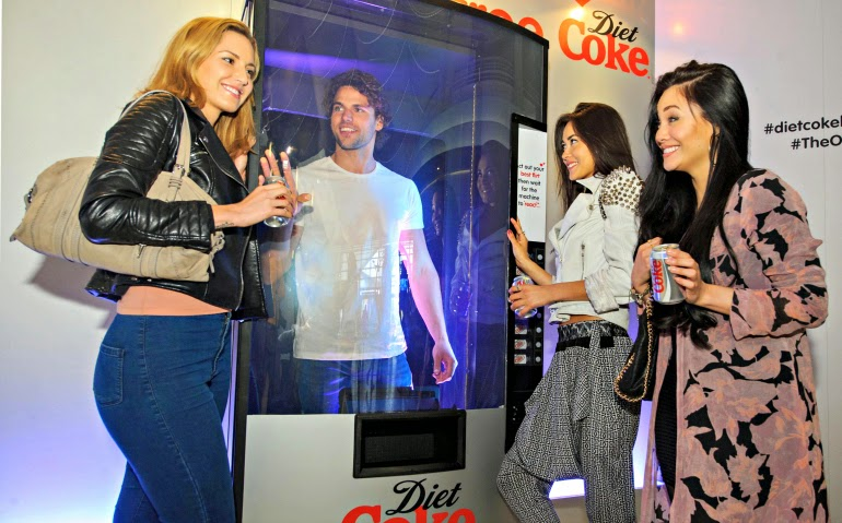 diet coke flirt machine