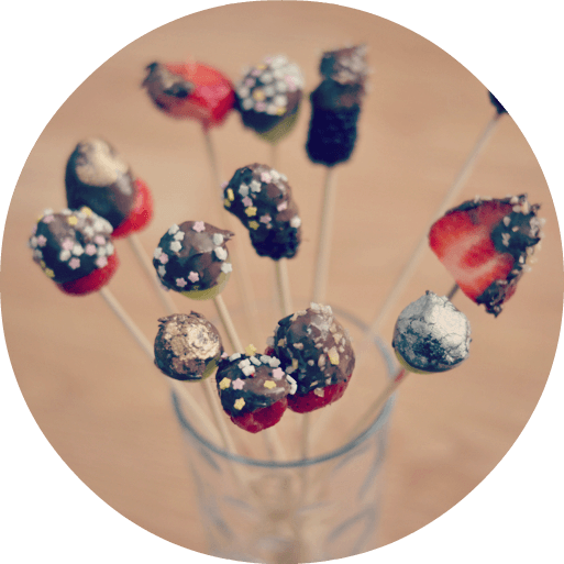 Party Food Ideas, Fruit Dipped in Chocolate
