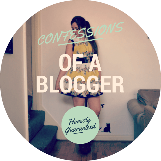 confessions of a blogger