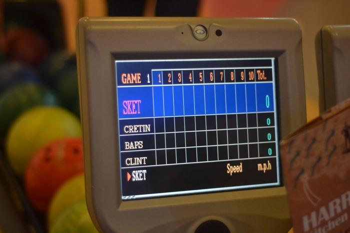 bowling screen