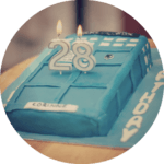 My Birthday // Tardis Cake