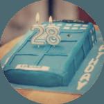 My Birthday // Tardis Cake