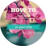 #socialbloggers 24 : Dealing with negativity.