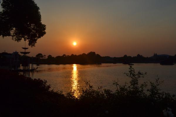 epcot sunset