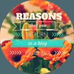#socialbloggers 26 – Reasons You Return To a Blog