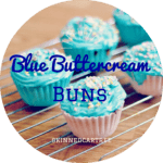 Blue Buttercream Buns