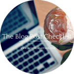 The Blog Post Checklist