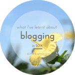 What I've learnt about blogging in 2014
