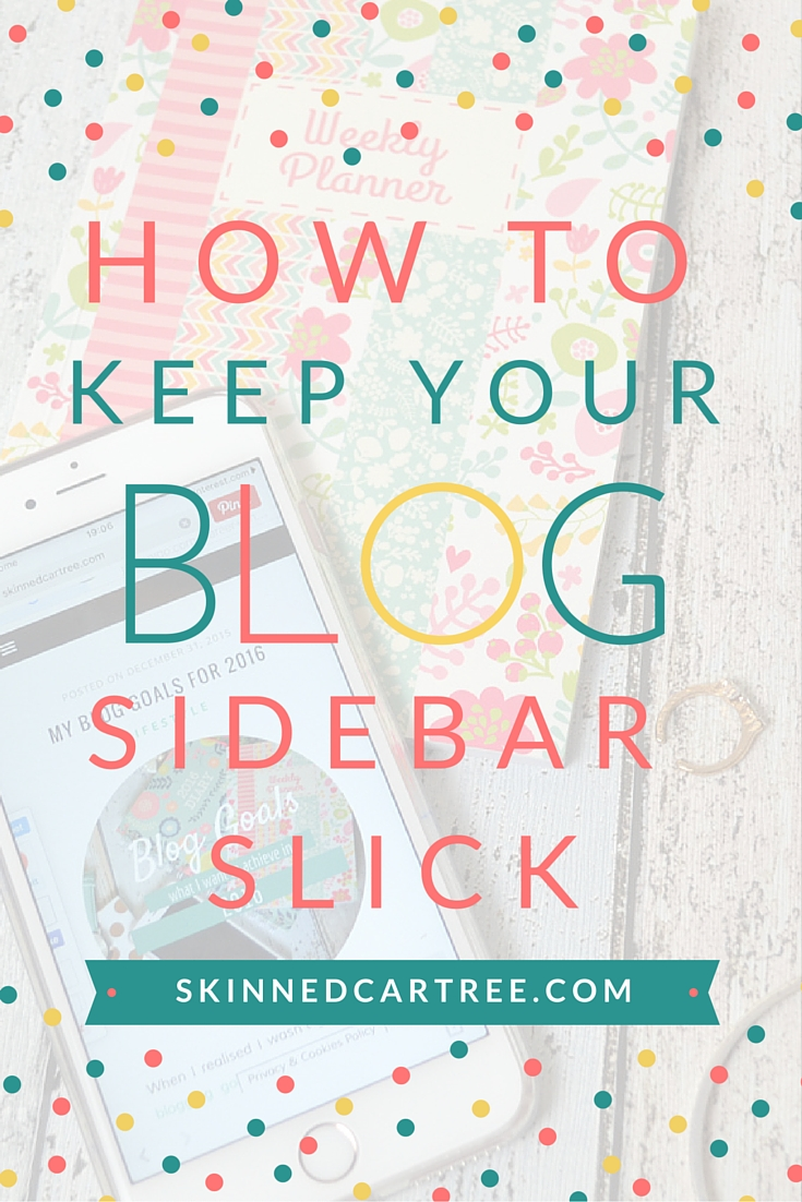 how to keep your sidebar slick