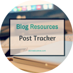 Printable Blog Post Tracker