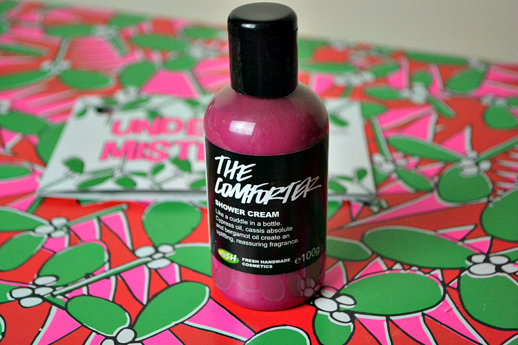 lush under the mistletoe the comforter shower gel review