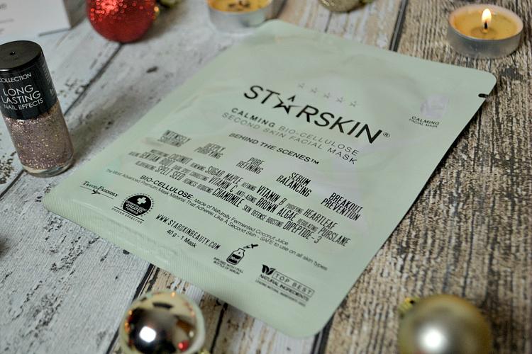 Glossybox December 2015 starskin bio-cellulose second skin mask