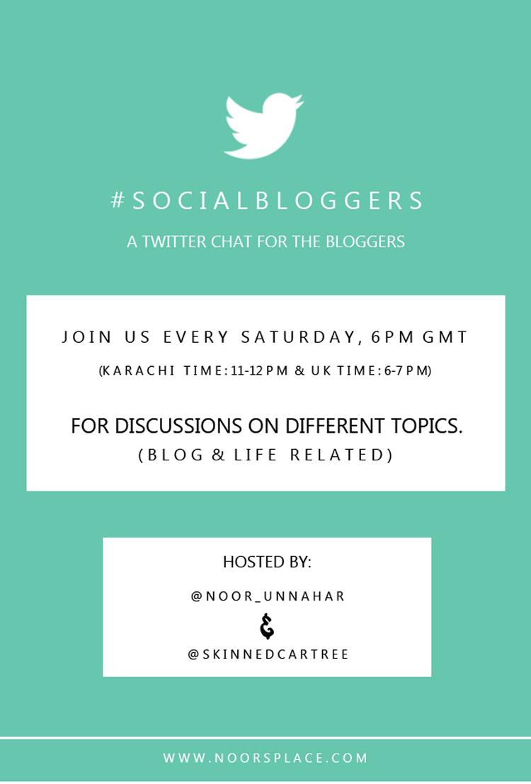#SOCIALBLOGGERS Twitter Chat2