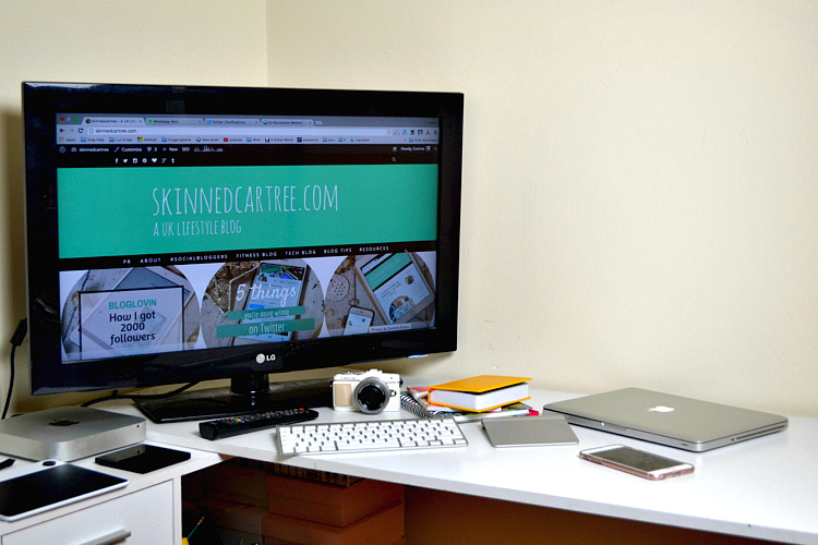a bloggers desk