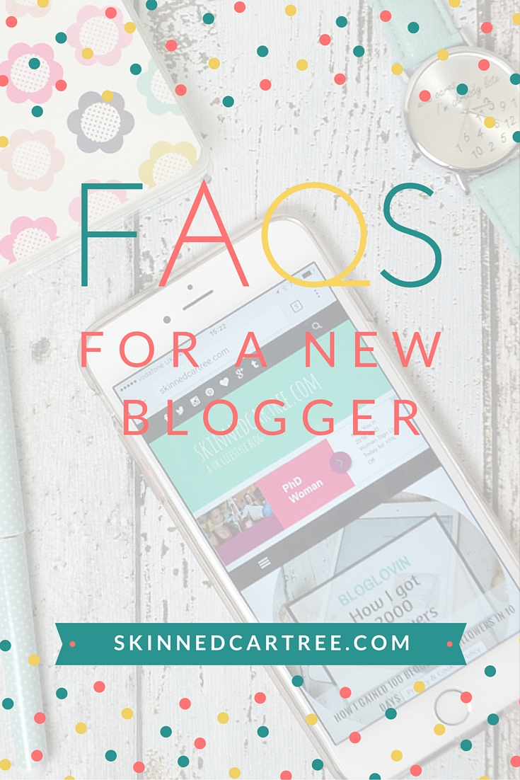 FAQ's from new bloggers