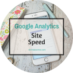 Google Analytics // Check Your Site Speed