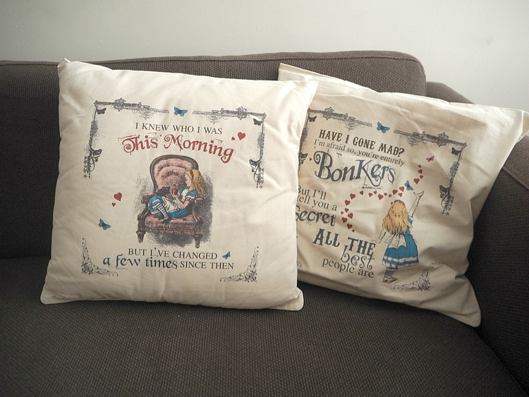 alice in wonderland cushions