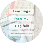 What I've Leant from my blogging failures.