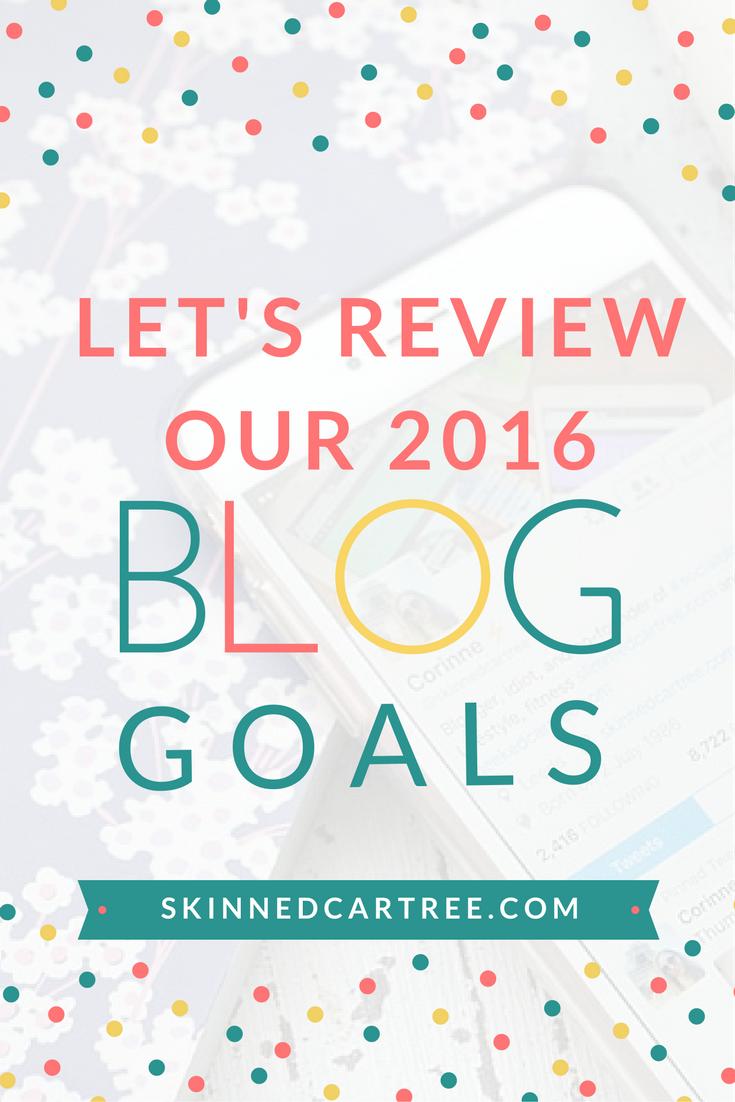 2016 blog goals