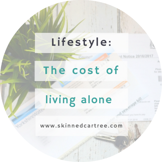 how much it costs to live alone