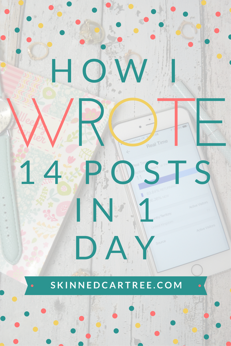 how to write lots of blog posts