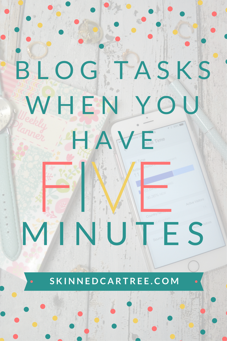 quick blog tasks