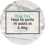 How I wrote 14 blog posts in one day and you can, too.