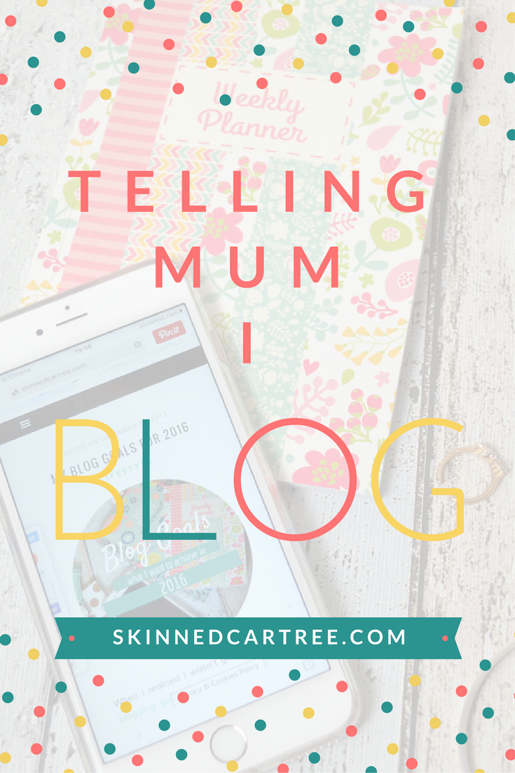 telling people you blog