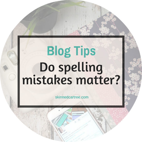 Does spelling actually matter that much in blogging?