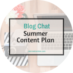 Content Planning for the summer
