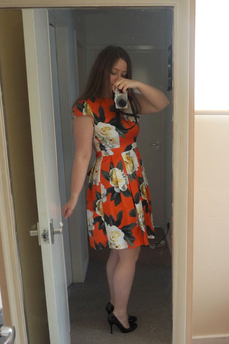 orange dress dorothy perkins