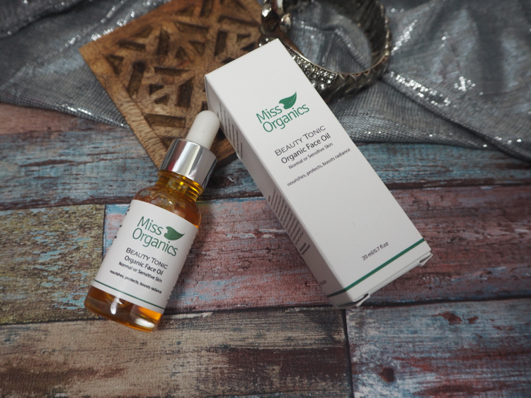 BEAUTY TONIC ORGANIC FACE OIL miss organics