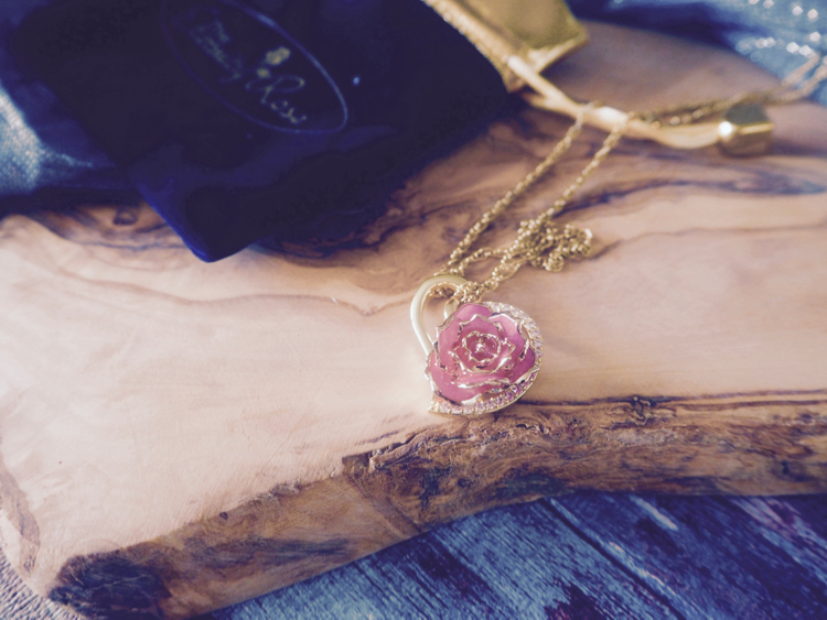 eternity rose necklace