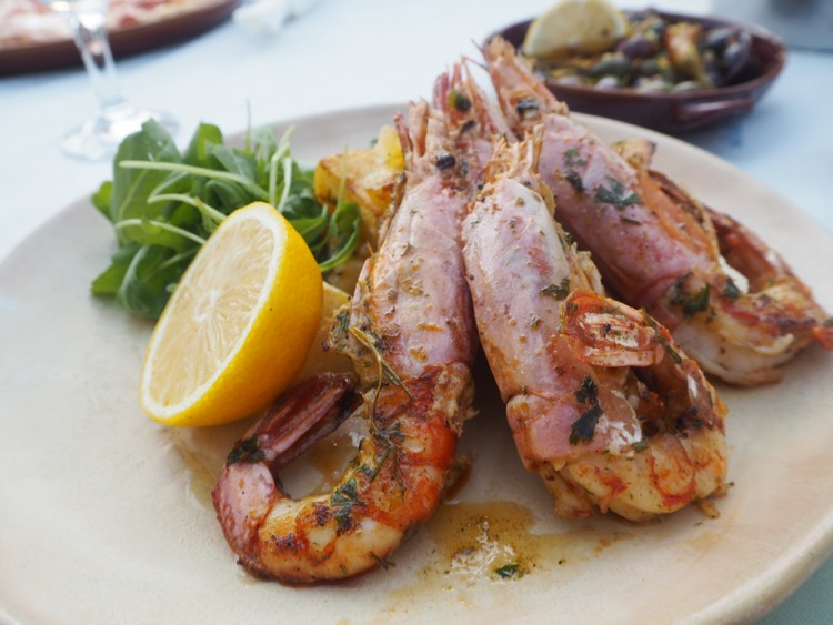 zante agrassi holiday blog green frog king prawns