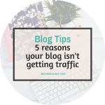 5 Reasons Why Your Blog Isn't Getting Traffic