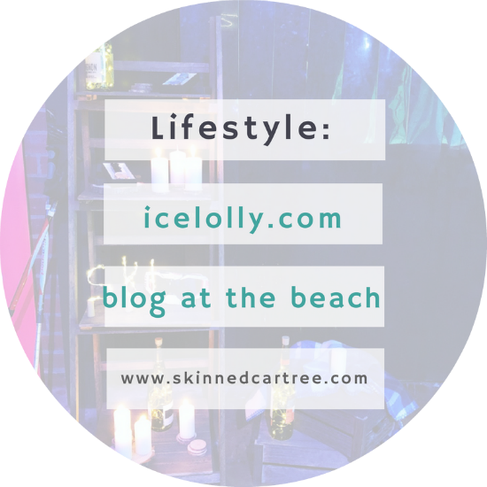 Blogging at the beach with icelolly.com
