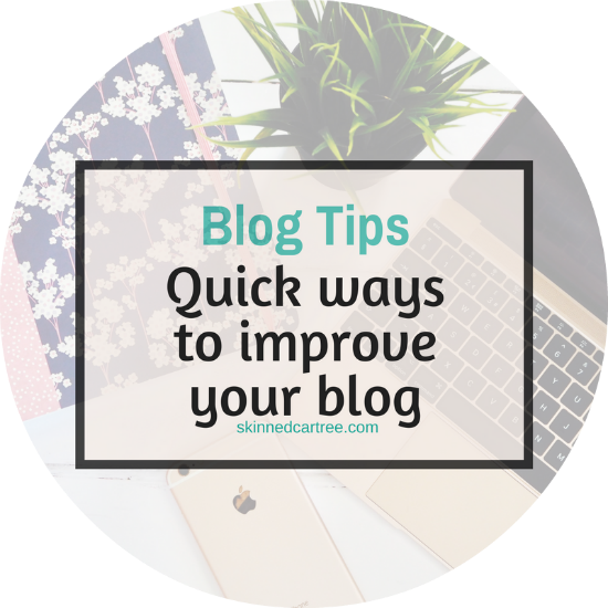 Quick things you can do to improve your blog