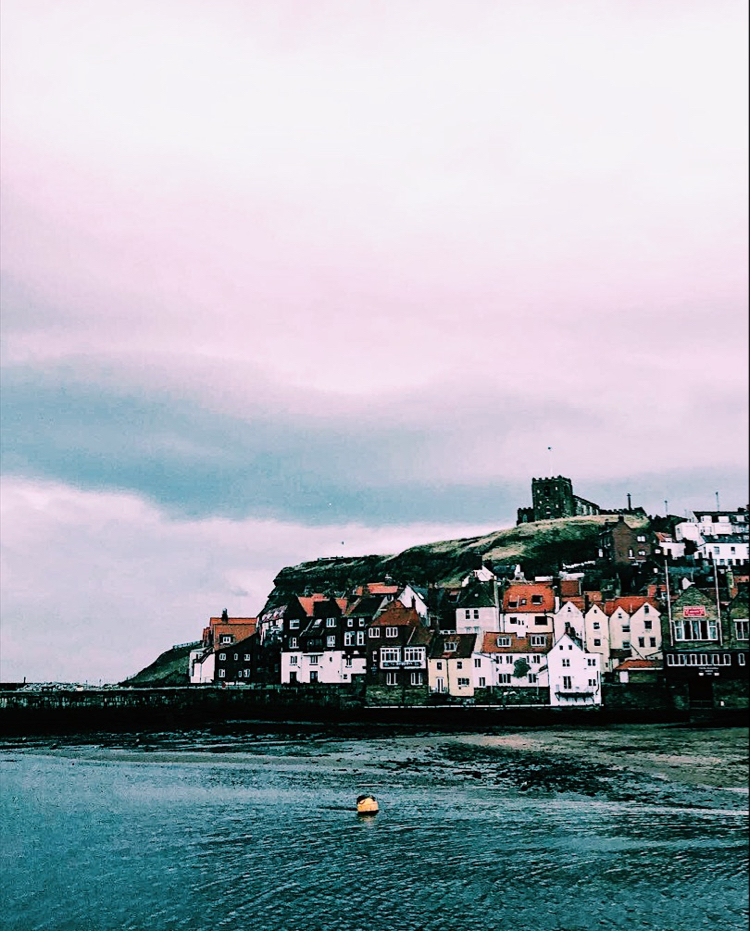 whitby cliff view