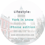 York in snow // Phone Edition
