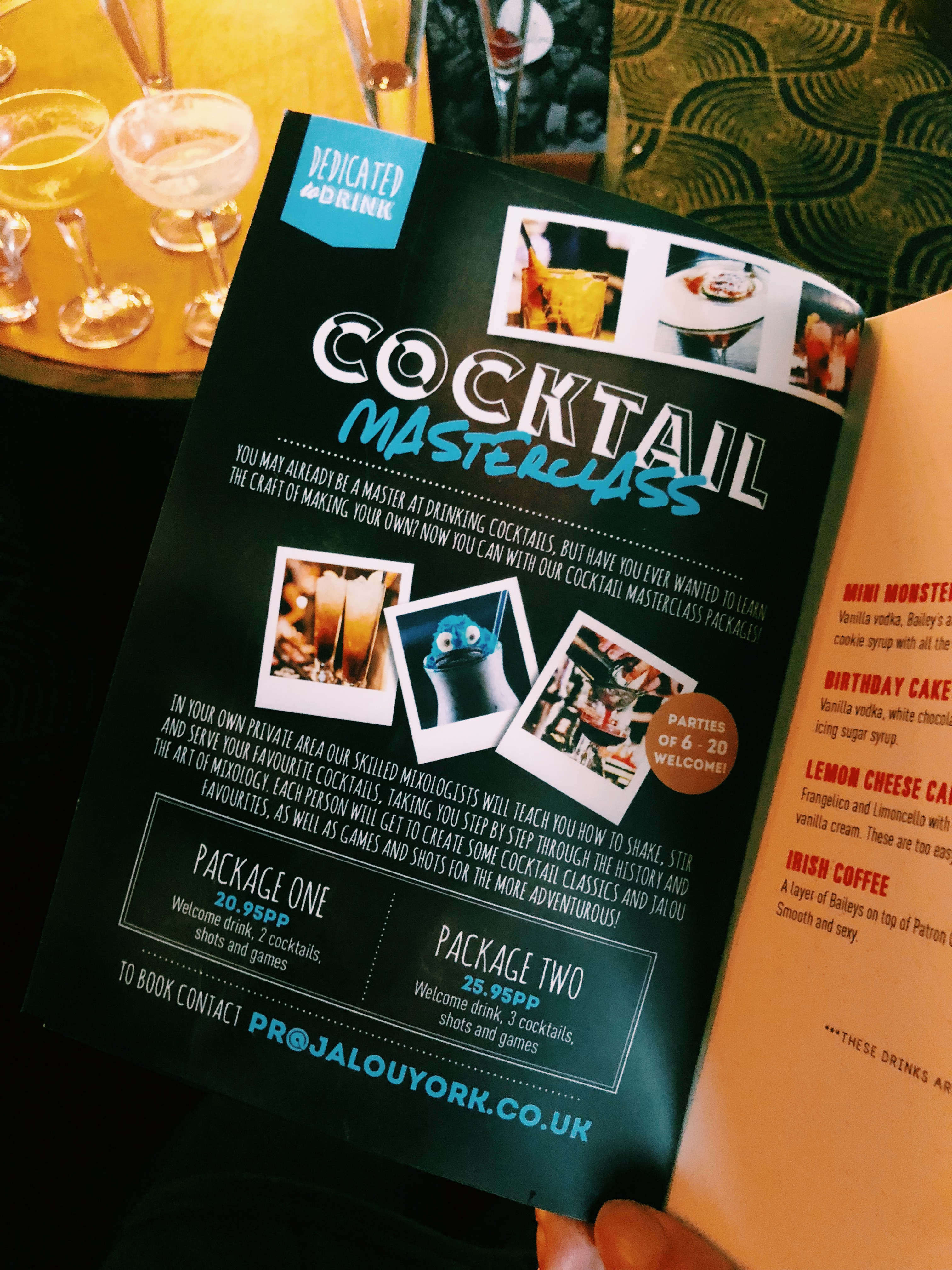 Making cocktails at Jalou // York