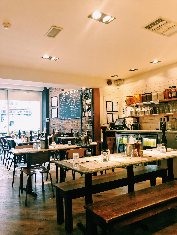 Franco Manca, Pizza in London
