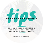 Social media marketing for small businesses // Types of social media