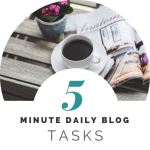 Daily blog task checklist