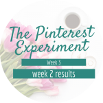 The Pinterest Experiment – week 2 results