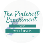 The Pinterest Experiment Week 4 Results