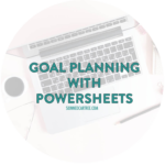 Track your January Goals with this free PowerSheet
