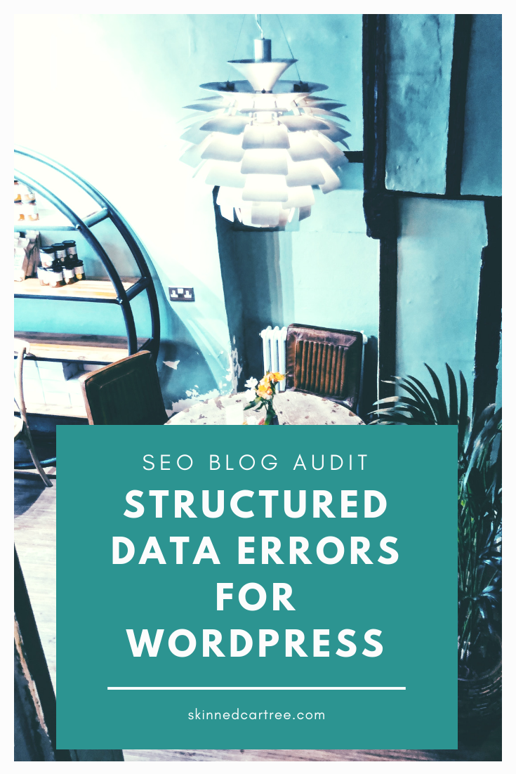 blog seo structured data errors wordpress