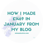 How I made £1469 in January from my blog